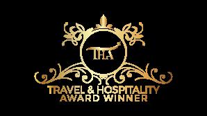 Travel and hospitality award winner logo golden 01